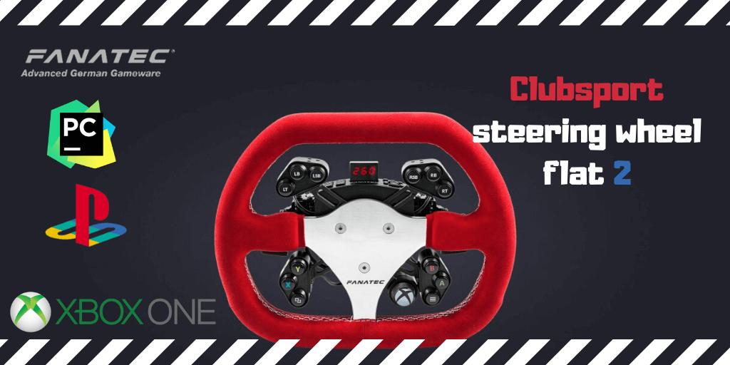 Fanatec Clubsport steering wheel flat 2