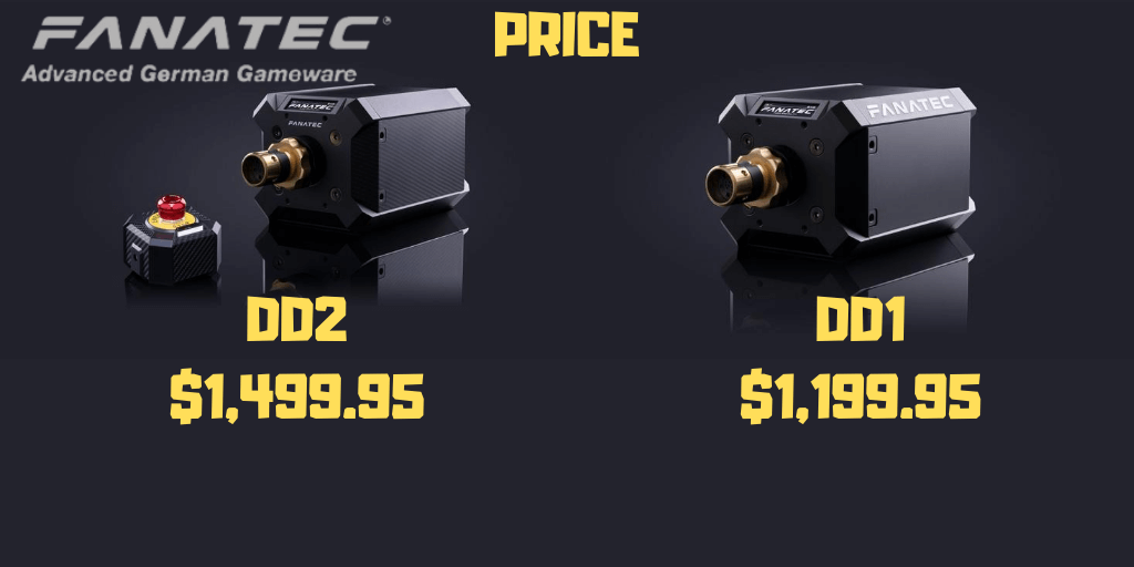 fanatec podium ddr1 and dd2 PRICE