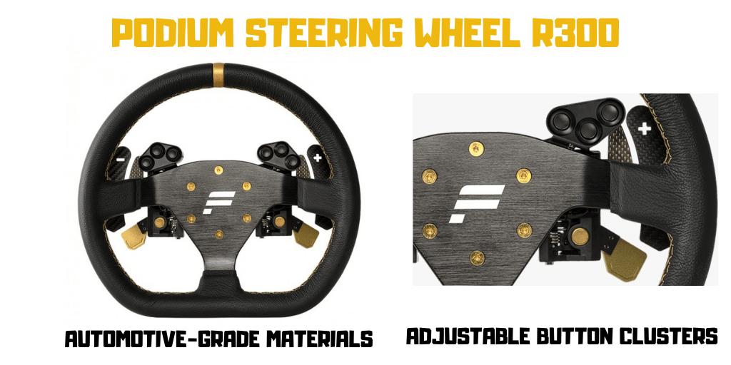 Podium Steering Wheel R300 Features